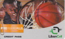 LEBANON - Basketball, Liban Cell Promotion Prepaid Card, Exp.date 10/11/01, Used - Libanon