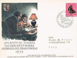 LETTRE . SUISSE. PRO JUVENTUTE . 1953 . N°150. JOURNEE DU TIMBRE GENEVE - Pro Juventute