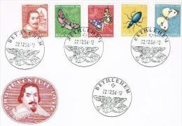 LETTRE . SUISSE. PRO JUVENTUTE 1956. N°163.164.165.166.167. - Pro Juventute
