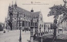 Belgium Brussells Bruxelles Eglise Notre Dame Du Sablon Et Squar