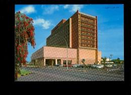 KUWAIT Koweit : Hotel Hilton ( Voiture Américaine American Cadillac Type Car & Mercedes Benz + VW Beetle - Koweït