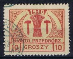 Poland Local Issues 1918 Przedbörz, Mi 6  Type 2 Used - ....-1919 Overgangsregering