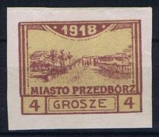 Poland Local Issues 1918 Przedbörz, Mi 4 C   MH/* - ....-1919 Overgangsregering