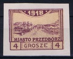 Poland Local Issues 1918 Przedbörz, Mi 4 C   MH/* - Nuovi