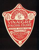 Etiquette  De Vinaigre D'Alcool Coloré  -  Bocquet  à  Yvetot  (76) - Etiquettes
