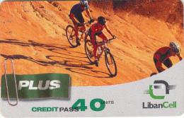LEBANON - Cycling, Liban Cell Prepaid Card 40 Units, Exp.date 04/08/06, Used - Libanon