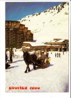Carte ( Format 15 X 10,5 Cm ) Avoriaz  Traineau  ( Recto Verso ) - Avoriaz