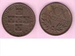 *portugal 20 Centavos  1963   Km 584  Unc !!! - Portugal