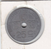 25 CENTIMES Zinc Léopold III 1945 FL/FR - 03. 25 Centimes