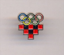 Olympic Pin - NOC CROATIA - Stick Pin. - Olympic Games