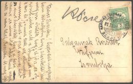 YUGOSLAVIA - HUNGARY - TRAINS Cancel NAGY BECSKEREK To ZSOMBORVAR  No. 222 B - 1913 - Treni