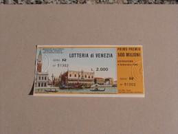 LOTTERIA DI VENEZIA 1983 - Publicité
