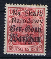 Poland: Local Overprints: Kolo  Type I  , On German Occupation Stamps MH/* RRR, Na Skaro Narodowy - ....-1919 Overgangsregering