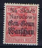 Poland: Local Overprints: Kolo  Type I  , On German Occupation Stamps MH/* RRR, Na Skaro Narodowy