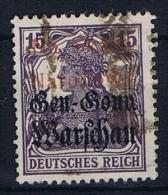 Poland: Local Overprints: Włocławek III.Edition 1,4mm, On German Occupation Stamps Used - ....-1919 Overgangsregering