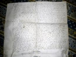 GRAND PARCHEMIN 16 EME SIECLE 1579 Concerne JEAN LAMI DE GUILLAUMET NORMANDIE - Manuscrits