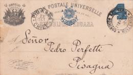 Repubblica Peruana, Carta D'imbarco Da Mollengo A Pisagua Chile Su Vapor Imperial 1900 - Peru