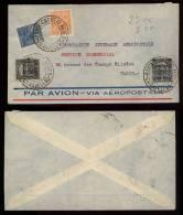 Brazil Brasilien 1929 Airmail Cover BAHIA CARAVELLAS CARAVELAS To Paris - Brasile