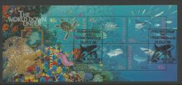 1995 The World Down Under Special Gold Overprint And Postmark  Complete Mint Never Hinged Stamps - Blocks & Sheetlets
