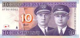 LITHUANIE   10 Litu   Emission De 2001  Pick 65     ***** BILLET  NEUF ***** - Lituanie