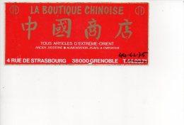 REF 5  : Autocollant Sticker 1970/1980 La Boutique Chinoise Grenoble - Autocollants