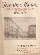 Lisboa - Jerónimo Marins, Publicação De 1942 Comemorativa Dos 150 Anos Dos Estabelecimentos (9 Scans) Publicidade - Boeken, Tijdschriften, Stripverhalen