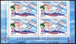 France Coin Daté - N°  71 A ** Poste Aérienne - PATROUILLE DE FRANCE ( Nez De L´avion Cassé) Au 30.07.2008 - Aéreo