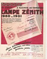 Aix En Provence -concours Lampes Zénith 1930 - Advertising
