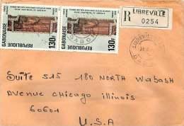 1976  Lettre Recommandée De Libreville Pour Les USA   «Thomas Mets Son Doight Dans Les Plaies De Jésus» Scul - Gabon (1960-...)