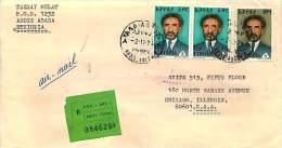 1974  Lettre Recommandée Pour Les USA  Haile Selassie  30c, $1 X2 - Ethiopie
