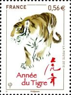 YT4433 FR2010 Nouvel An Chinois Année Du Tigre - Francia