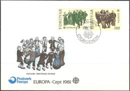 Féroé 1981 57 - 58 FDC -Europa - Folklore - Danses Folkloriques - Faroe Islands