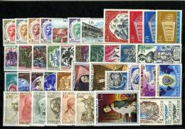 1969 MONACO ANNEE COMPLETE TIMBRES POSTE + PA + PREO Xx - Années Complètes