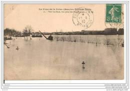 PARIS,,,,LA CRUE De La  SEINE  JANVIER - FEVRIER 1910,,,VERS CONFLANS , VUE PRISE Des FORTIFICATIONS ,,,VOYAGE 1910,,, - Inondations De 1910