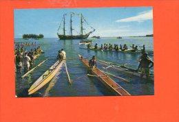 TAHITI - La Course Des Pirogues, Pendant Les Fêtes Du 14 Juillet - Tahiti