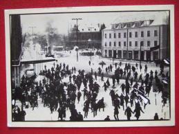 """POLOGNE - DECEMBRE 1981 - """" SOLIDARNOSC """"  CARTE NUMEROTEE - - Polen"""