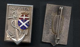 Insigne Du Croiseur Suffren ( A Augis Lyon ) - Marine