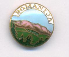 CLIMBING MOUNTAINEERING CLUB ´´ROMANIA´´ FROM SARAJEVO, BOSNIA,  MEGA RARE PIN BADGE FROM 1930th - Alpinism, Mountaineering