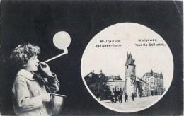 BELLE CPA : MULHOUSE TOUR DE BOLLWERK ENFANT BULLES DE SAVON JEU JOUET 68 ALSACE - Mulhouse