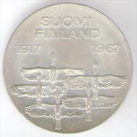 FINLANDIA 10 MARKKAA 1967 AG SILVER 50th Anniversary Of Independence - Finlandia