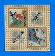 BT 1967-0001, Bhutanese Boy Scouts, MNH MS O.g. - Bhutan