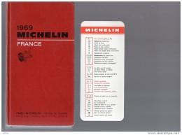 GUIDE  MICHELIN  ROUGE  Avec MARQUE PAGE  MICHELIN -  1969 - Michelin (guides)