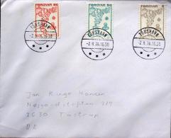 Faroe Islands Torshavn 2-9-1976  Letter To Denmark  ( Lot 2281 ) - Faroe Islands