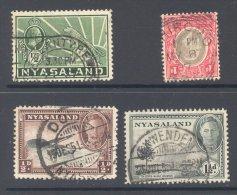 NYASALAND, Postmarks BLANTYRE, CHIROMO, DEDZA, EKWENDENI - Nyassaland (1907-1953)