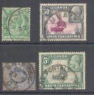 UGANDA, Postmarks Tororo , Mbale , Fort Portal , Entebbe - Kenya, Uganda & Tanganyika