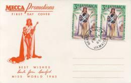 FDC Jamaica - Miss World 1963 - Jamaica (1962-...)
