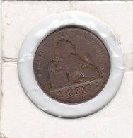 2 CENTIMES Cuivre Léopold I 1863 - 1831-1865: Leopold I