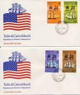 2 FDC's Turks & Caicos Islands 1976 - Turks- En Caicoseilanden
