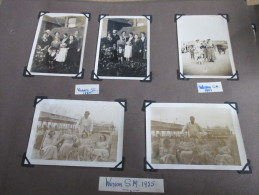 Scrapbook Pages Photographs 1955 Weston Super Mare - Anonieme Personen