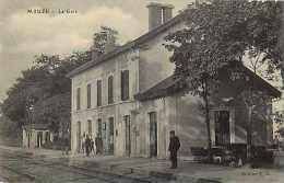 Deux Sevres -ref A799- Mauzé - La Gare Ligne De Chemin De Fer  -carte Bon Etat   - - Mauze Sur Le Mignon